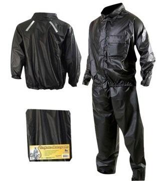 Conjunto Motoqueiro Calça/blusa Refletivo Plastnova (m/g) Capa Impermeável Chuva Frio Moto