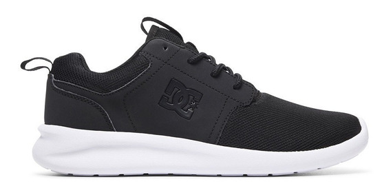 Zapatillas Dc Shoes Modelo Midway S Vn Negro Blanco! Mujer