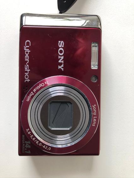 Câmera Sony Dsc-w370 Vermelha