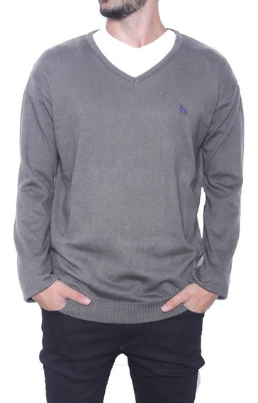 Sweater Bremer Basico V Con Bordado | Bravo Jeans (26707)