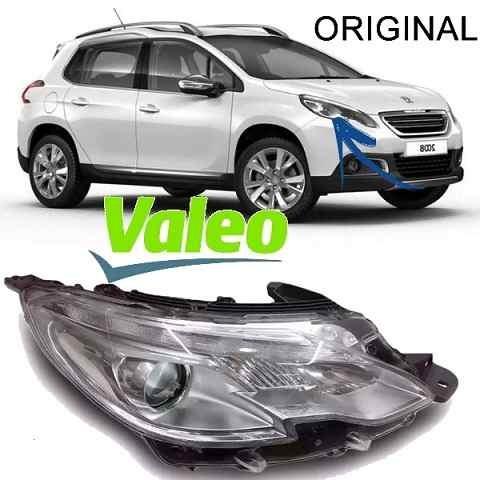 Par De Farol Peugeot 2008 2014 A 2016 Led Direito E Esquerdo