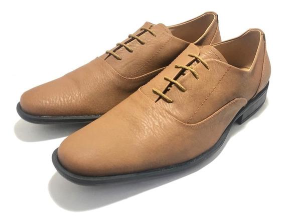 Zapato De Hombre Simil Eco Cuero De Vestir Punta Fina