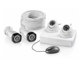 Kit Segurança Multilaser Com 4 Câmeras De Segurança Ahd 720p