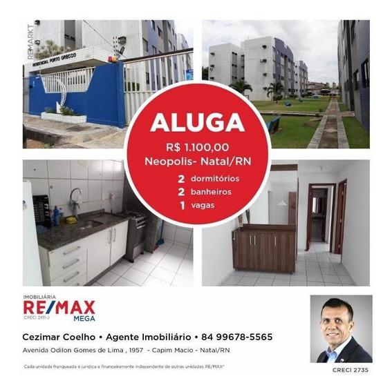 Apartamento Em Neópolis, Natal/rn De 65m² 2 Quartos Para Locação R$ 1.100,00/mes - Ap330594