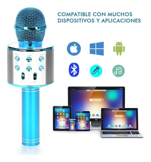 Micrófono Con Altavoz Inalámbrico Bluetooth Mp3 P/karaoke