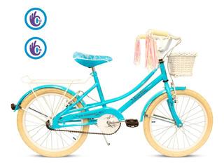 Bicicleta Musetta Rod 20 Vintage Nena Canasto Paseo Urbana