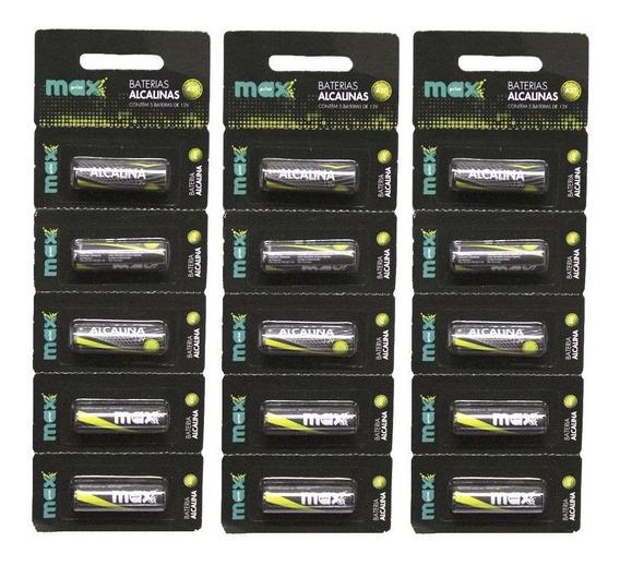 15 Pilhas Baterias A27 Maxprint 12v