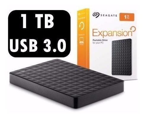 Mini Hd Externo 1tb Seagate Expansion Usb 3.0 Pc Mac - Ótimo