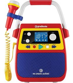 Rádio Portátil Bluetooth Com Karaokê Meu Primeiro Gradiente