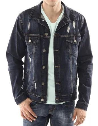 Jaqueta Jeans Sawary Detalhe Rasgado P Original