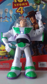Boneco Buzz Lightyear Toy Story 4 Grande 26 Cm Com Luz E Som