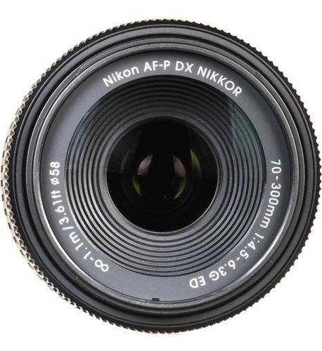 Imagem 1 de 4 de Lente Nikon Af-p Dx Nikkor 70-300mm F/4.5-6.3g Ed Novo