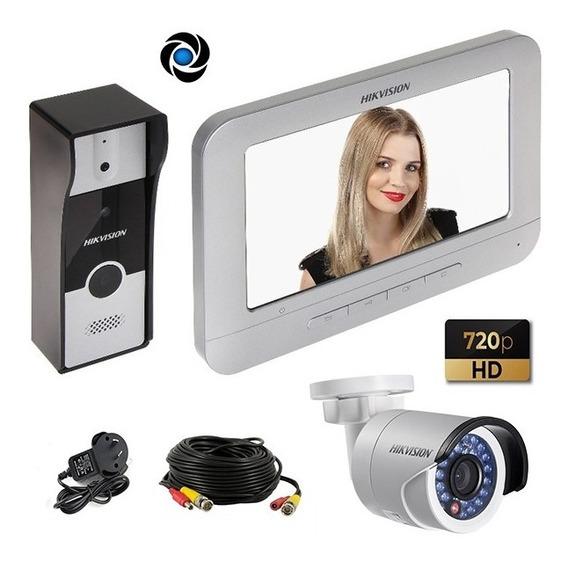 Kit Portero Visor Hikvision Lcd 7 Hd 720p + Camara Seguridad