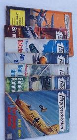 7 Revistas De Histórias De Aviadores, Em Alemão, Anos 50