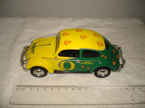 Vw Fusca Oval Ertl Oregon Ducks Escala 1/24