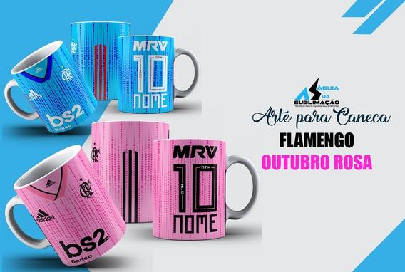 Arte Para Caneca Do Flamengo Rosa Editável Em Corel Draw