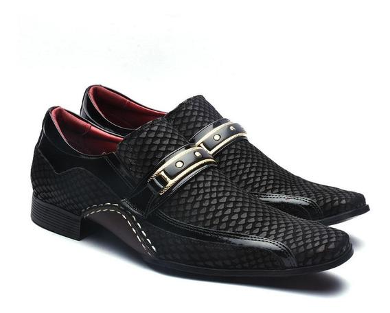 Sapato Social Calvest Masculino Artesanal Couro Conforto