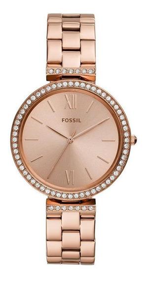 Relógio Feminino Fossil Carlie Es4641/1jn 38mm Aço Rosé
