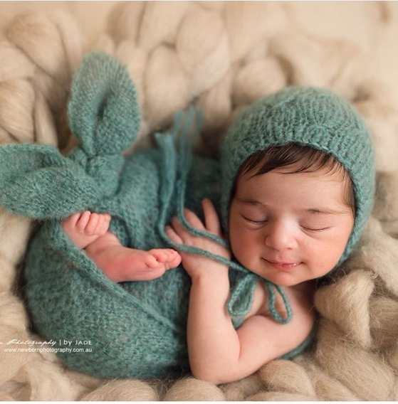 4 Wrap + 4 Touca Newborn Manta Props