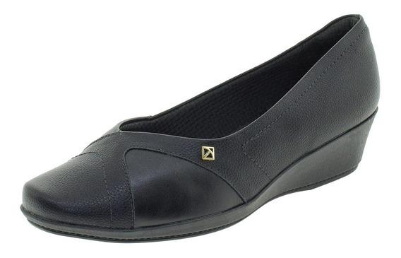 Sapato Feminino Anabela Piccadilly - 144050 Preto