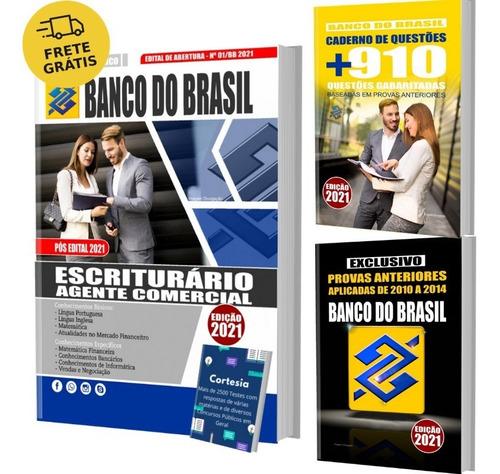 Imagem 1 de 6 de Kit Apostila Banco Do Brasil Escriturário + Testes + Provas