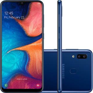 Smartphone Samsung Galaxy A20 32gb Dual, Tela 6.4 Azul