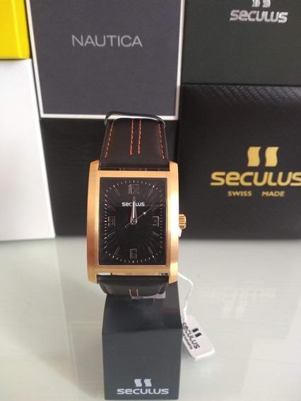 Relógio Seculus Modelo Com Caixa Em Aço