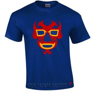 Playera Lucha Libre Dos Caras Luchador Tigre Texano Designs
