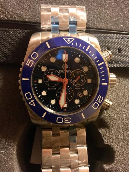 Relógio Deep Blue Raro 500 Mts Sea Ram