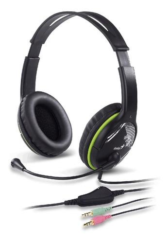 Audífonos Diadema Genius Hs-400a Microfono Alambrico Verde