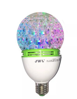 Foco Giratorio Led Esfera Efecto Disco Lámpara Multicolor