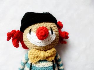 Muñeco Amigurumi Crochet Apego Payaso