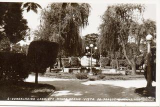 Antigo Postal Parque Quitandinha Conselheiro Lafaiete Mg