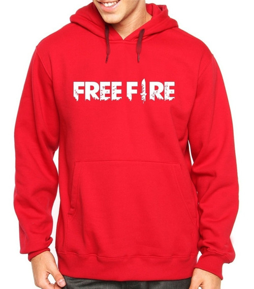 Blusa Moletom Casaco Free Fire Freefire Informe Seu Nickname