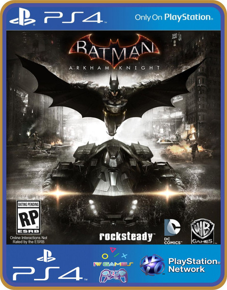 Ps4 Batman Arkham Knight Psn Original 1 Mídia Digital Inglês