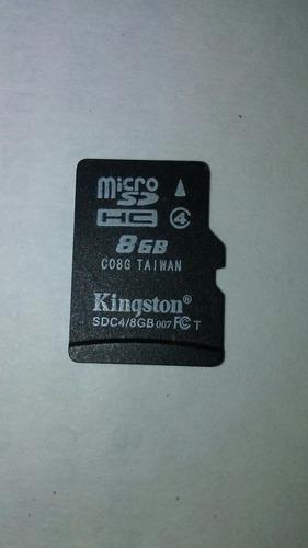Imagen 1 de 5 de Tarjeta De Memoria Micro Sd 8gb Kingston Usada