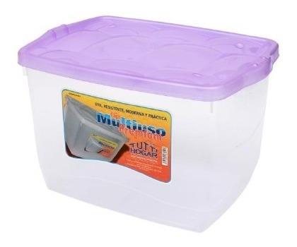 Caja Plastica Multiuso Organizador Tuttihogar 19l Contenedor