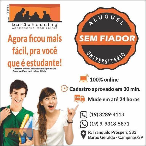Kitnet Com 1 Dormitório Para Alugar, 30 M² Por R$ 1.800/ano - Cidade Universitária - Campinas/sp - Kn0069