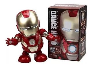 Muñeco Bailarín Luces Y Sonido Iron Man Dance Hero Robot B