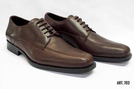 Zapatos Vestir Cuero Base De Goma Hombre Puerto Blue