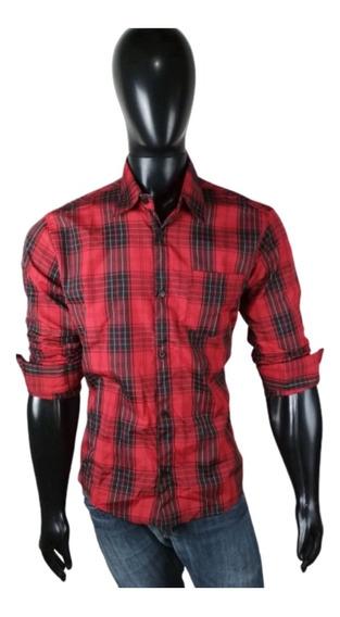 Camisa Masculina Xadrez Dc Manga Longa Barata