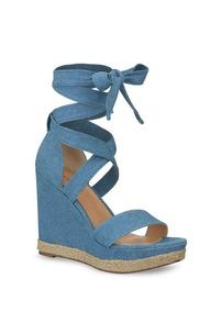Sandalia Ankle Strap Color Azul Alt. 13.5 Mod 257-0365