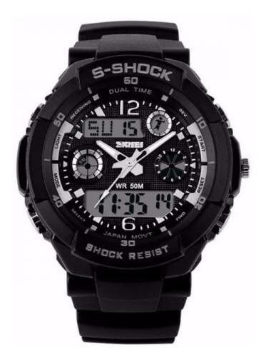O Verdadeiro Relógio S-shock Skmei A Prova D Água 50mt