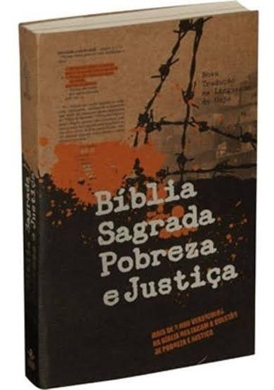 Bíblia Sagrada Pobreza E Justiça Capa Brochura.