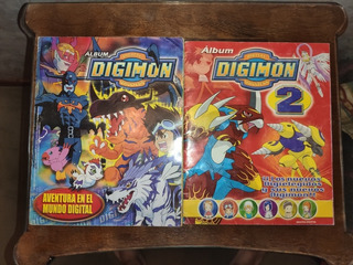 Albumes De Figuritas De Digimon (1 Y 2) Completos Los Dos