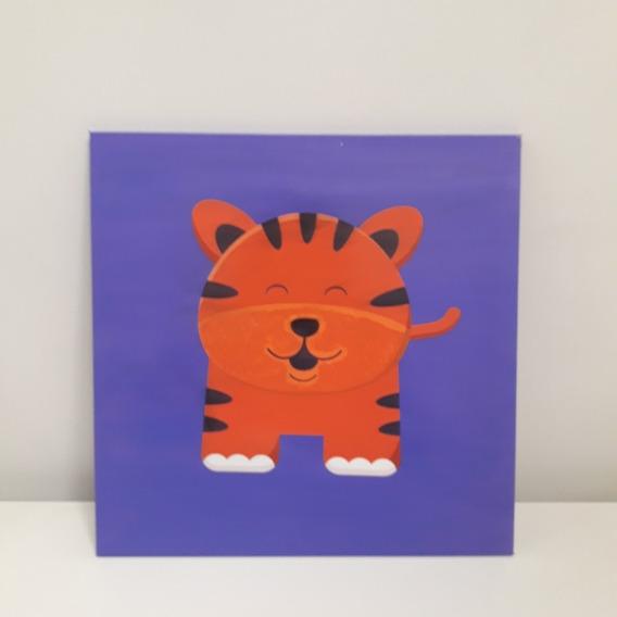 Cuadro Colgante Tigre Violeta Infantil