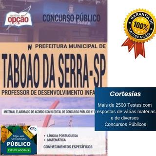 Apostila Prefeitura Taboão Da Serra Sp - Professor Infantil