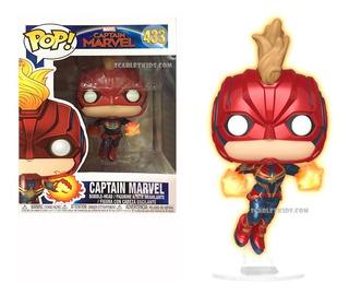 Funko Pop Capitana Marvel 433 Glow Original Scarlet Kids