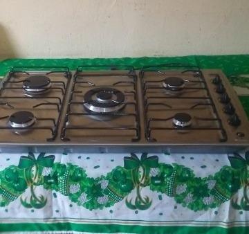 Tope Cocina  5 Hornillas Frigilux Y Campana   Lecape Inoxida