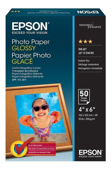Kit 3 Peças Papel Fotográfico Epson 10x15 S041809 50x1 200g